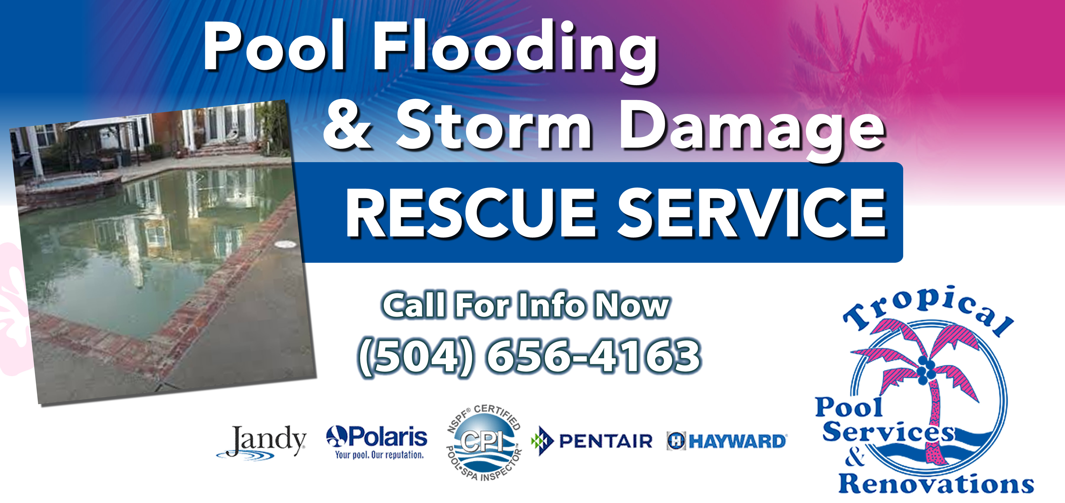 Hurricane & Storm Pool Service - Tropical Pool Services